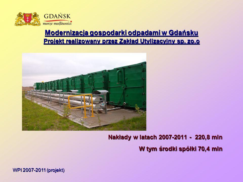 Modernizacja gospodarki odpadami w Gdańsku Projekt realizowany przez Zakład Utylizacyjny sp.