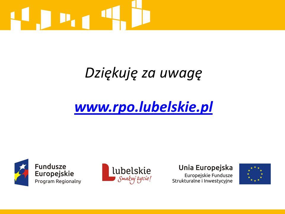 Dziękuję za uwagę www.rpo.lubelskie.pl www.rpo.lubelskie.pl