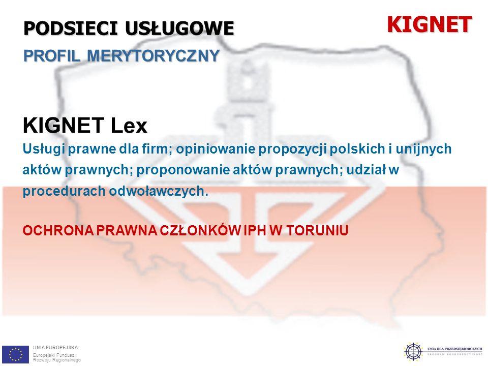 29 KIGNET Lex Usługi prawne dla firm; opiniowanie propozycji polskich i unijnych aktów prawnych; proponowanie aktów prawnych; udział w procedurach odwoławczych.