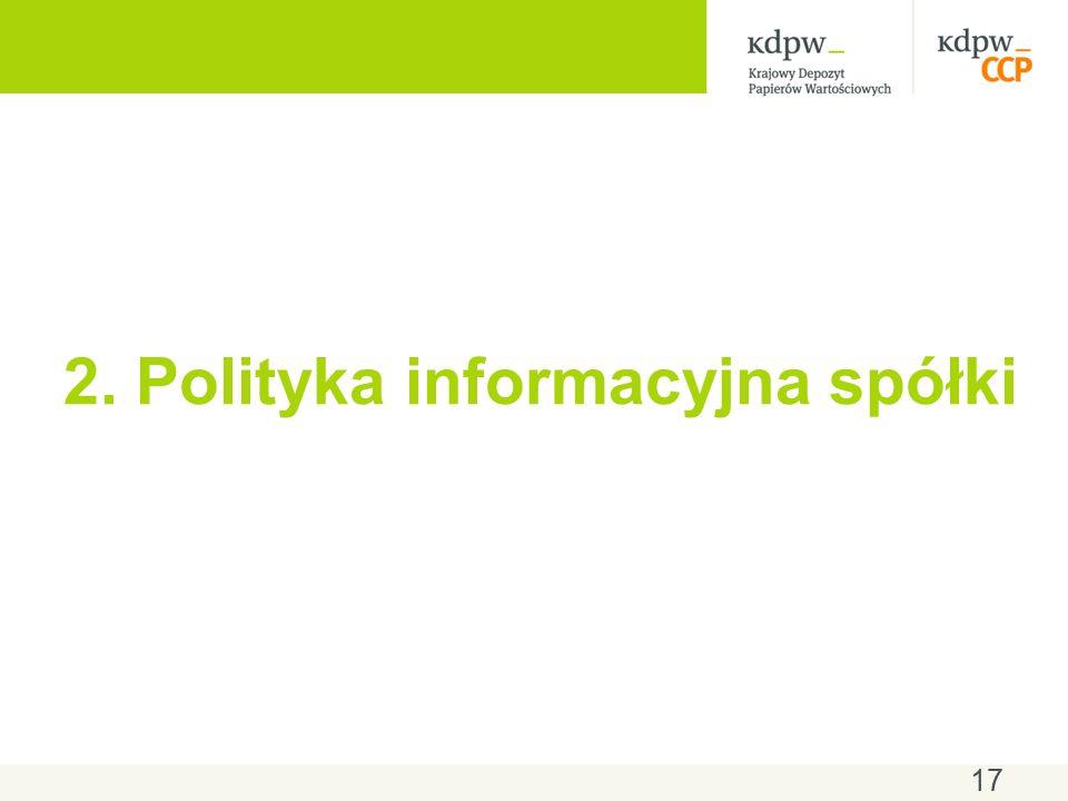 17 2. Polityka informacyjna spółki