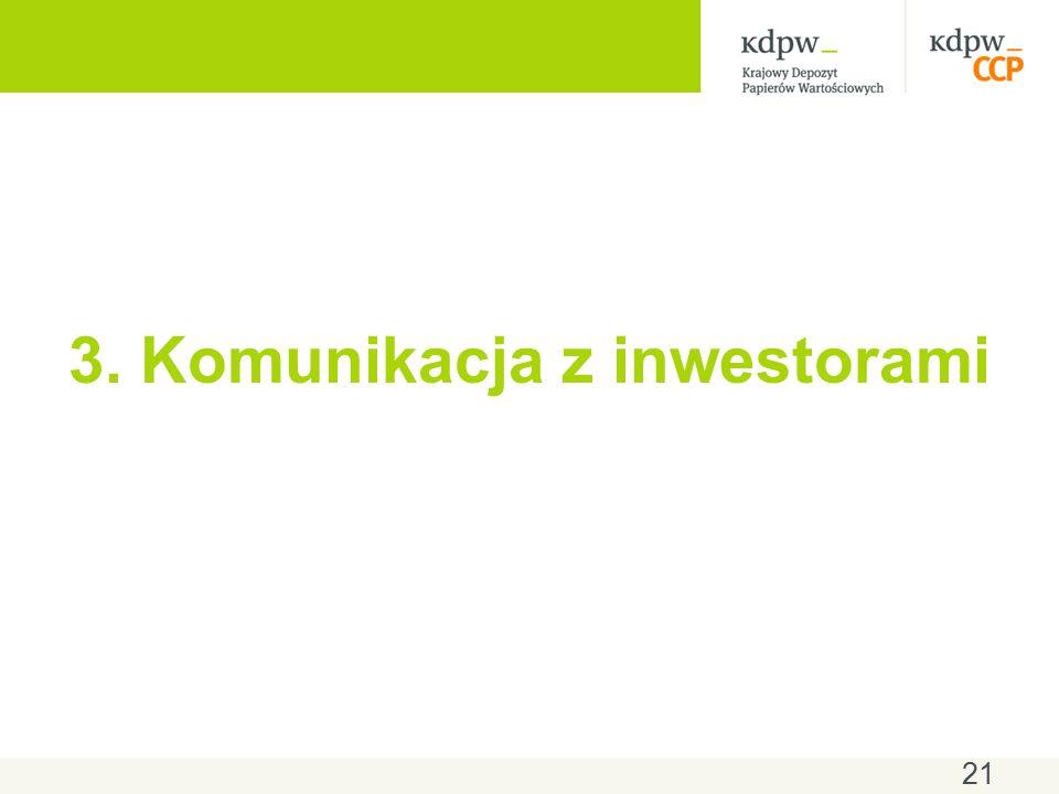 3. Komunikacja z inwestorami 21