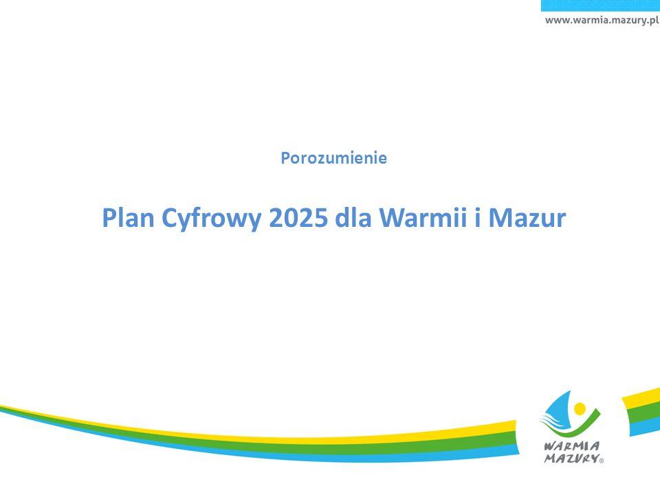 Porozumienie Plan Cyfrowy 2025 dla Warmii i Mazur