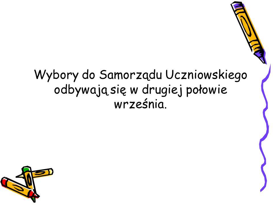 Wybory do Samorządu Uczniowskiego odbywają się w drugiej połowie września.