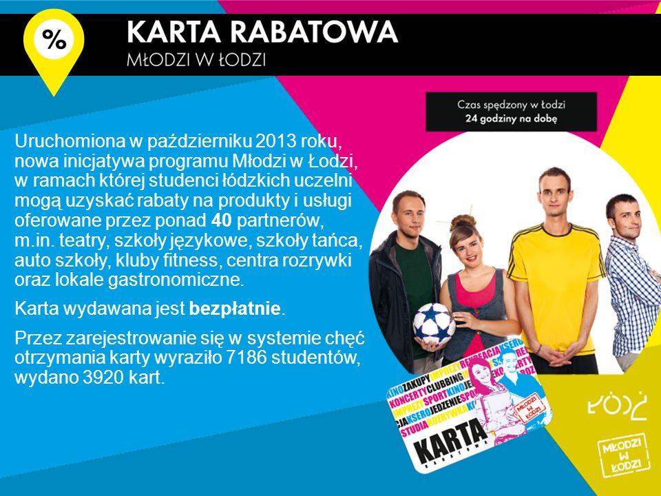 Uruchomiona w październiku 2013 roku, nowa inicjatywa programu Młodzi w Łodzi, w ramach której studenci łódzkich uczelni mogą uzyskać rabaty na produkty i usługi oferowane przez ponad 40 partnerów, m.in.
