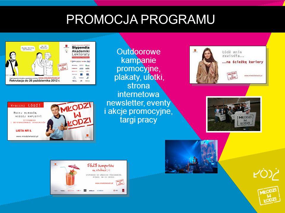 PROMOCJA PROGRAMU Outdoorowe kampanie promocyjne, plakaty, ulotki, strona internetowa newsletter, eventy i akcje promocyjne, targi pracy