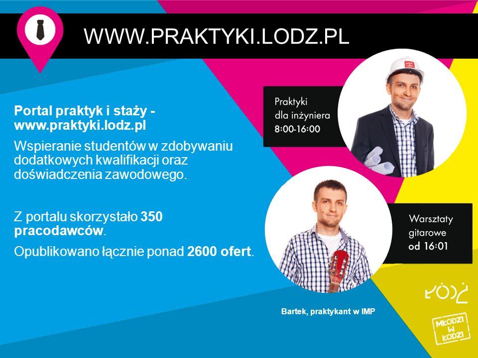 WWW.PRAKTYKI.LODZ.PL Portal praktyk i staży - www.praktyki.lodz.pl Wspieranie studentów w zdobywaniu dodatkowych kwalifikacji oraz doświadczenia zawodowego.