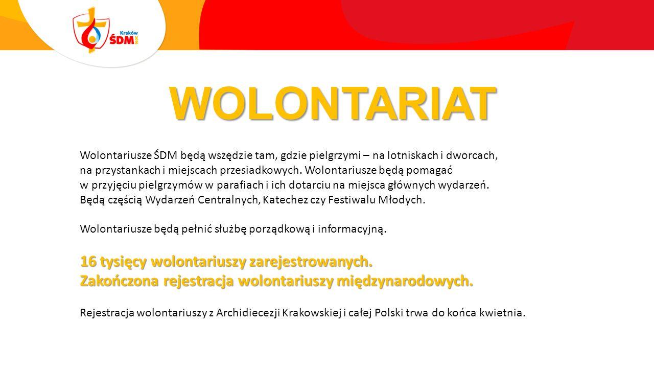 WOLONTARIAT Wolontariusze ŚDM będą wszędzie tam, gdzie pielgrzymi – na lotniskach i dworcach, na przystankach i miejscach przesiadkowych.