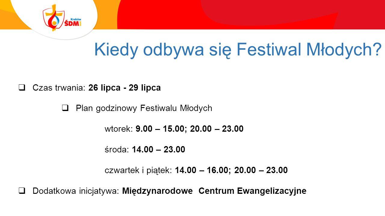 Kiedy odbywa się Festiwal Młodych.