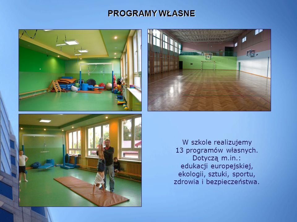 PROGRAMY WŁASNE W szkole realizujemy 13 programów własnych.