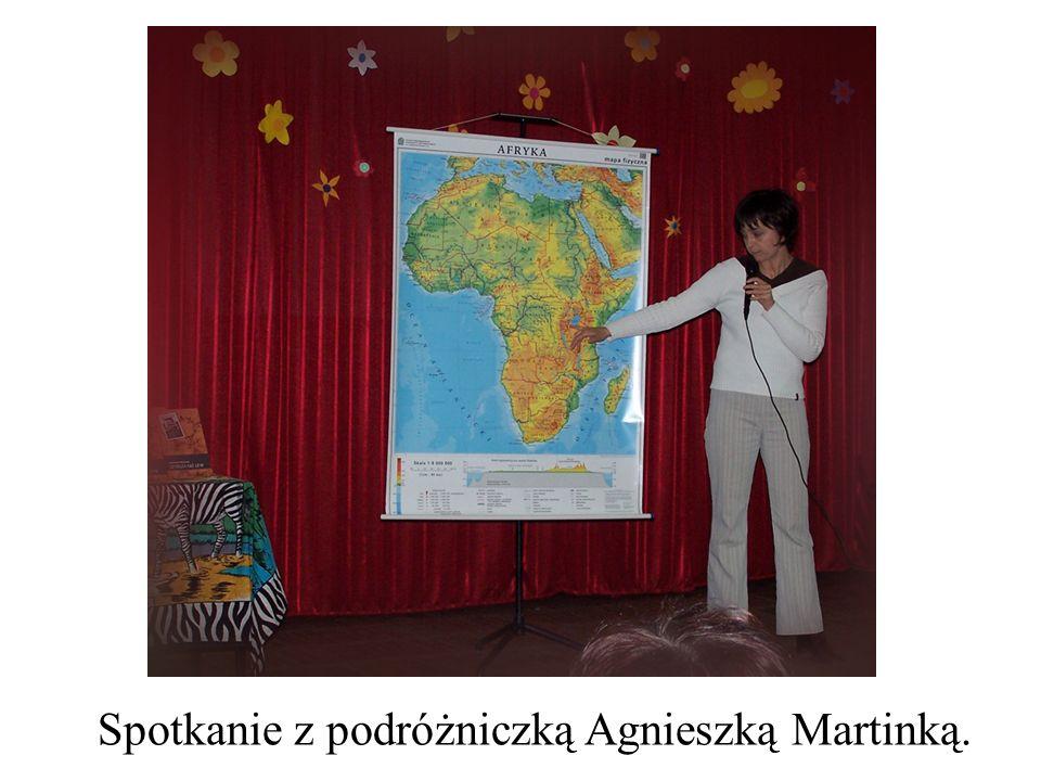 Spotkanie z podróżniczką Agnieszką Martinką.