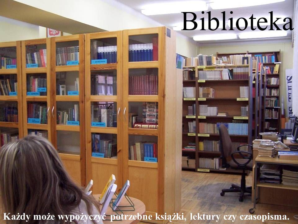 Biblioteka Każdy może wypożyczyć potrzebne książki, lektury czy czasopisma.