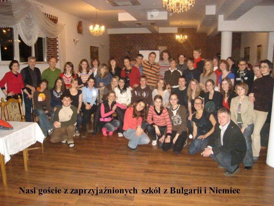 Nasi goście z zaprzyjaźnionych szkół z Bułgarii i Niemiec