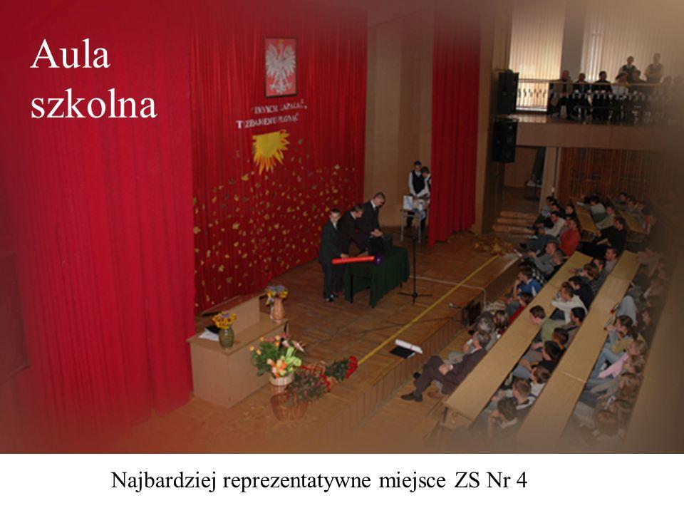 Aula szkolna Najbardziej reprezentatywne miejsce ZS Nr 4