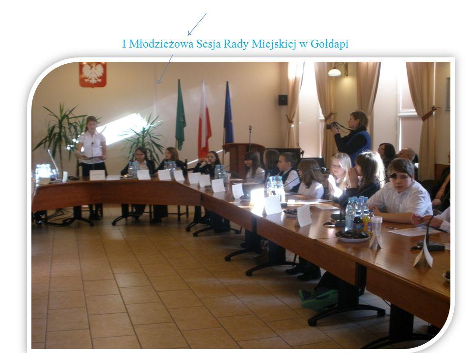 I Młodzieżowa Sesja Rady Miejskiej w Gołdapi