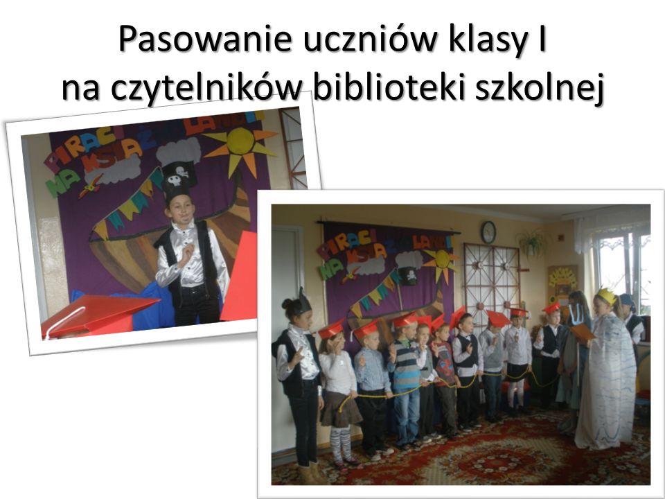 Pasowanie uczniów klasy I na czytelników biblioteki szkolnej