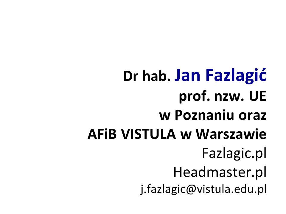 Dr hab. Jan Fazlagić prof. nzw.