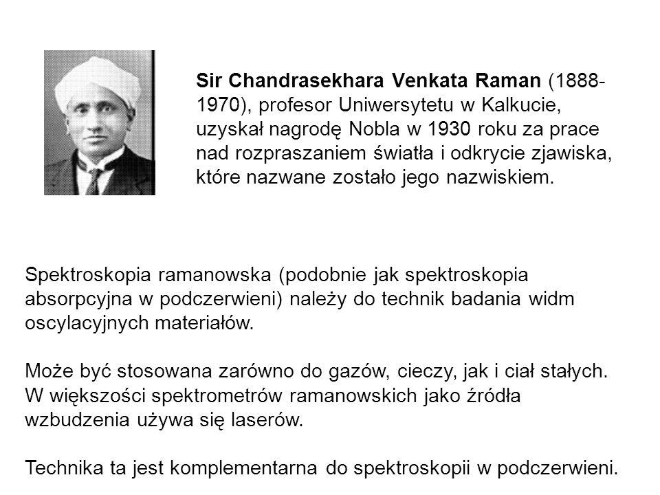 Sir Chandrasekhara Venkata Raman (1888- 1970), profesor Uniwersytetu w Kalkucie, uzyskał nagrodę Nobla w 1930 roku za prace nad rozpraszaniem światła i odkrycie zjawiska, które nazwane zostało jego nazwiskiem.