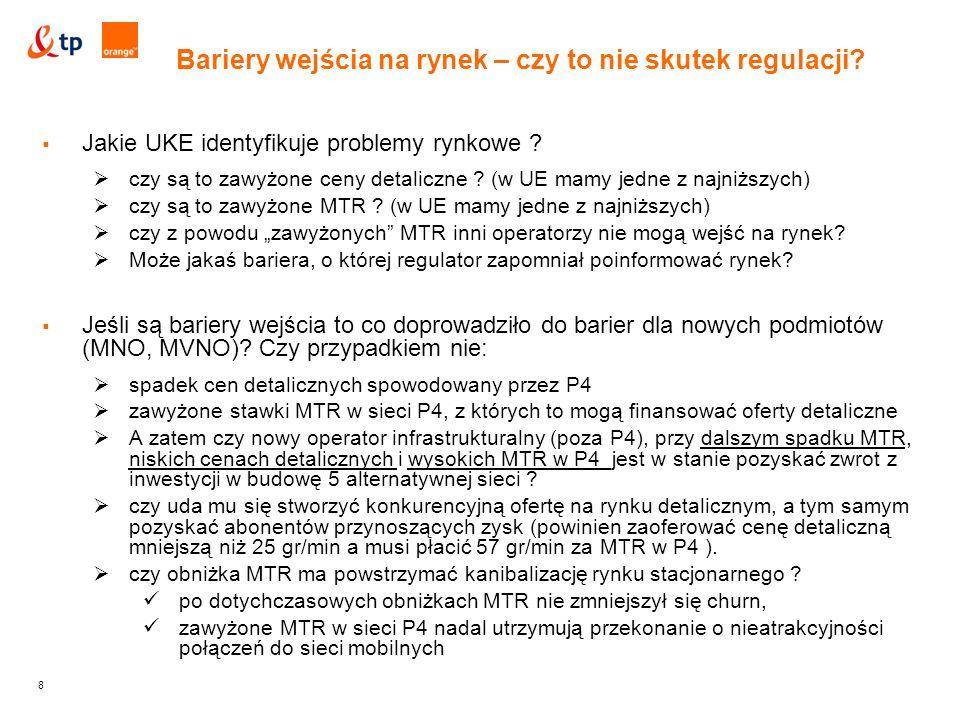 8  Jakie UKE identyfikuje problemy rynkowe .  czy są to zawyżone ceny detaliczne .