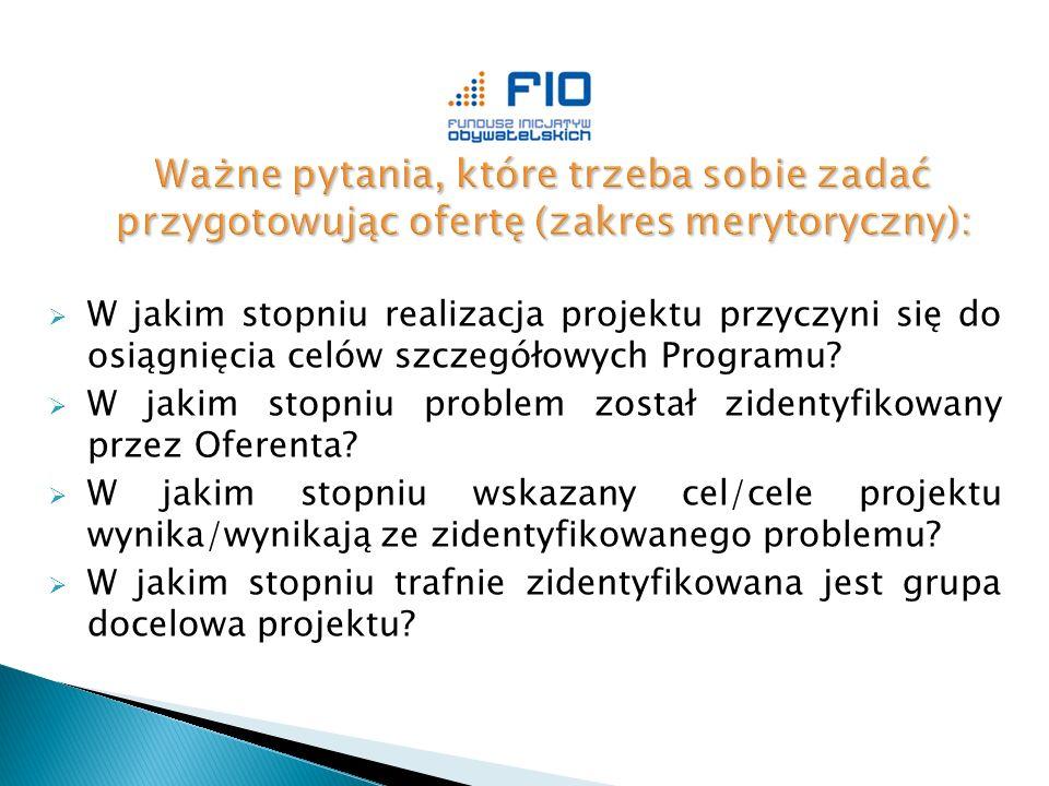 W jakim stopniu realizacja projektu przyczyni się do osiągnięcia celów szczegółowych Programu.