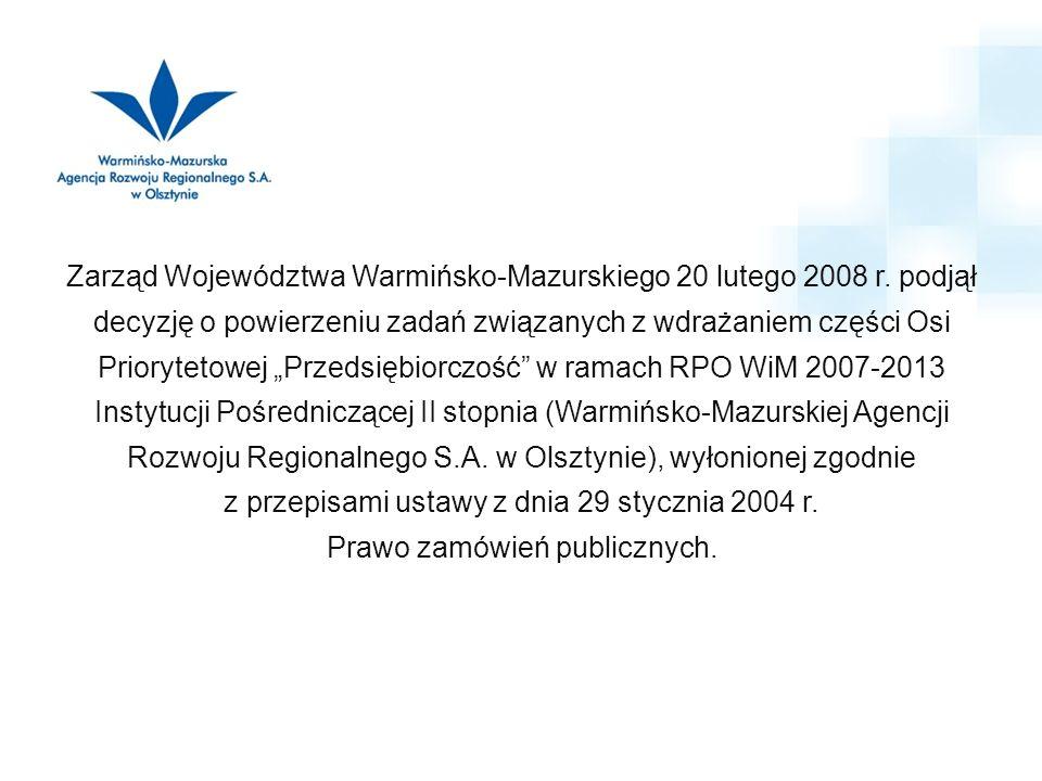 Zarząd Województwa Warmińsko-Mazurskiego 20 lutego 2008 r.