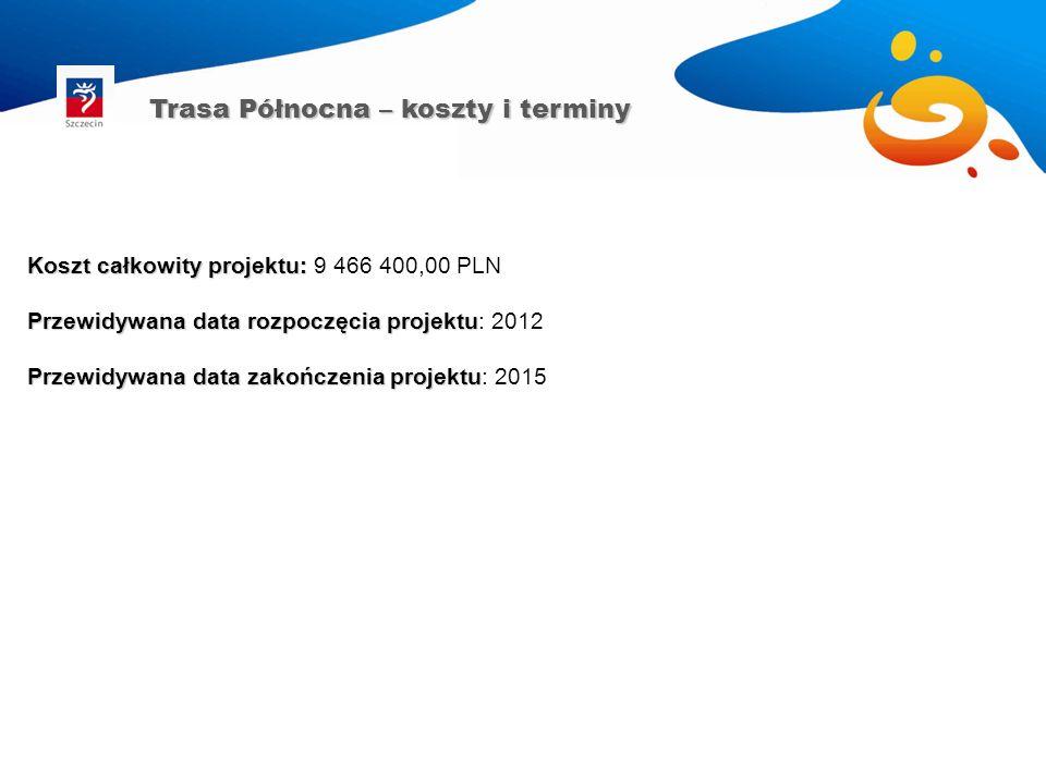 Koszt całkowity projektu: Koszt całkowity projektu: 9 466 400,00 PLN Przewidywana data rozpoczęcia projektu Przewidywana data rozpoczęcia projektu: 20