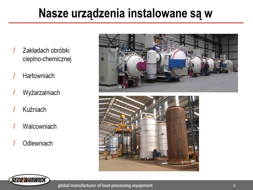6 Nasze urządzenia instalowane są w / Zakładach obróbki cieplno-chemicznej / Hartowniach / Wyżarzalniach / Kuźniach / Walcowniach / Odlewniach