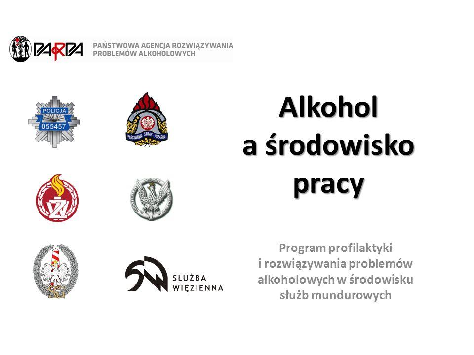 Program profilaktyki i rozwiązywania problemów alkoholowych w środowisku służb mundurowych Alkohol a środowisko pracy