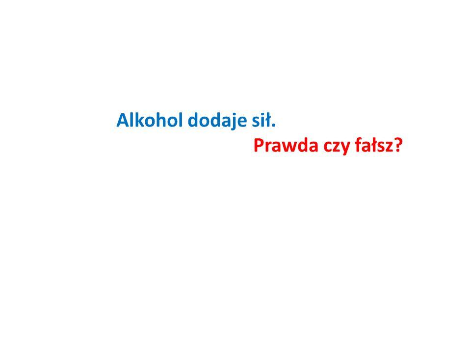Alkohol dodaje sił. Prawda czy fałsz