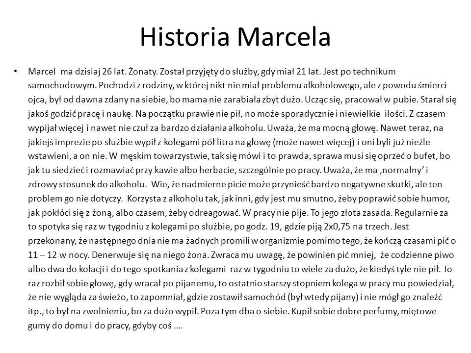 Historia Marcela Marcel ma dzisiaj 26 lat. Żonaty.
