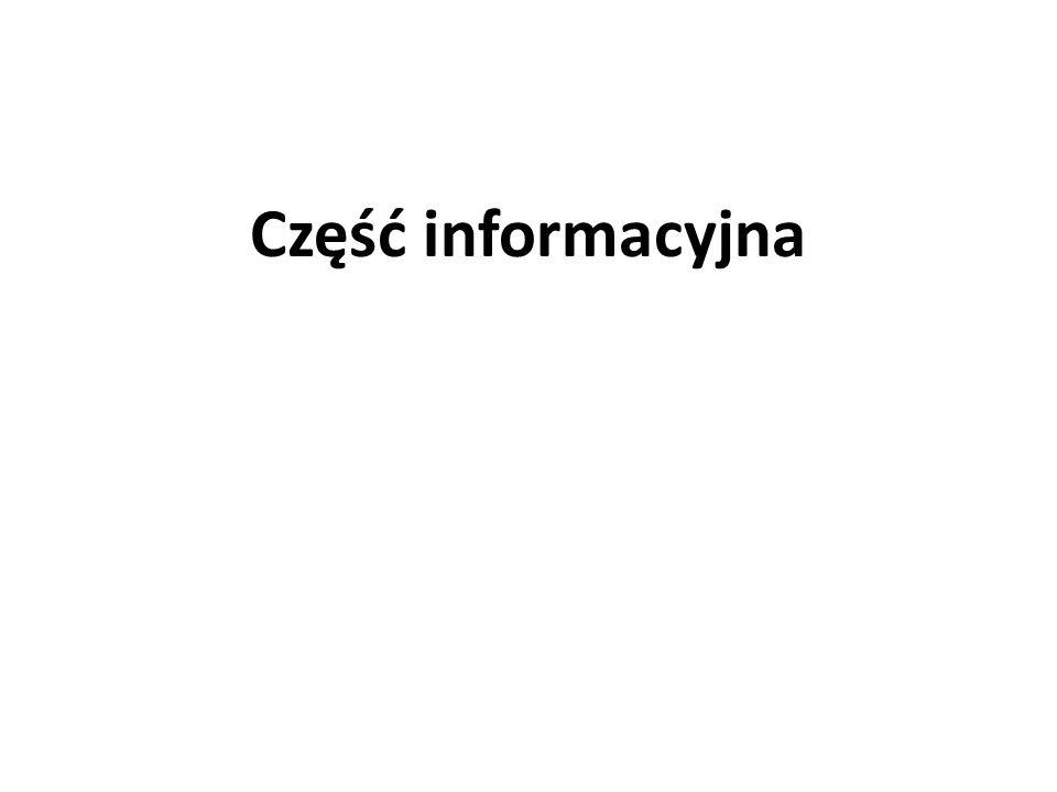 Część informacyjna