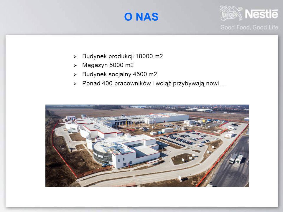 O NAS  Budynek produkcji 18000 m2  Magazyn 5000 m2  Budynek socjalny 4500 m2  Ponad 400 pracowników i wciąż przybywają nowi…