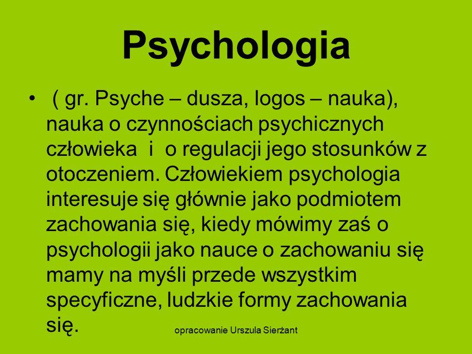 Psychologia ( gr.