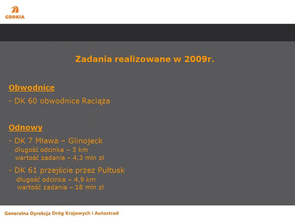 Budowa obwodnicy Raciąża Zakres robót: budowa jednojezdniowej obwodnicy o długości ok.