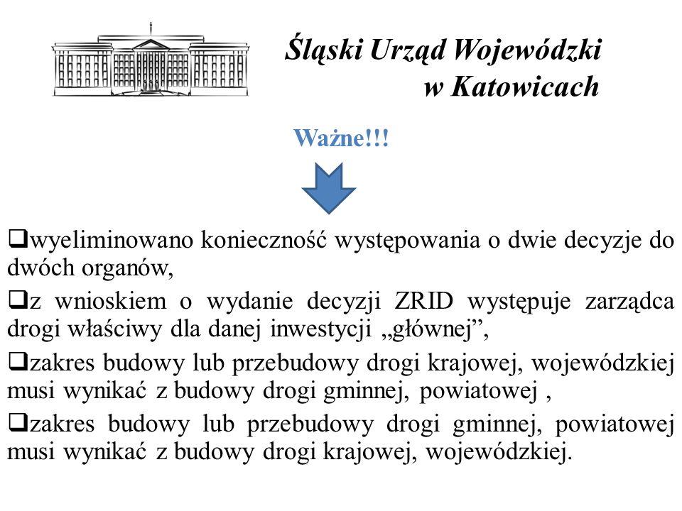 Śląski Urząd Wojewódzki w Katowicach Ważne!!.