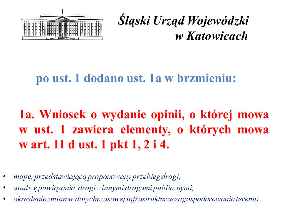 Śląski Urząd Wojewódzki w Katowicach po ust.1 dodano ust.