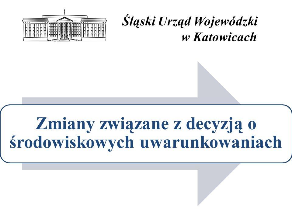 Śląski Urząd Wojewódzki w Katowicach Zmiany związane z decyzją o środowiskowych uwarunkowaniach