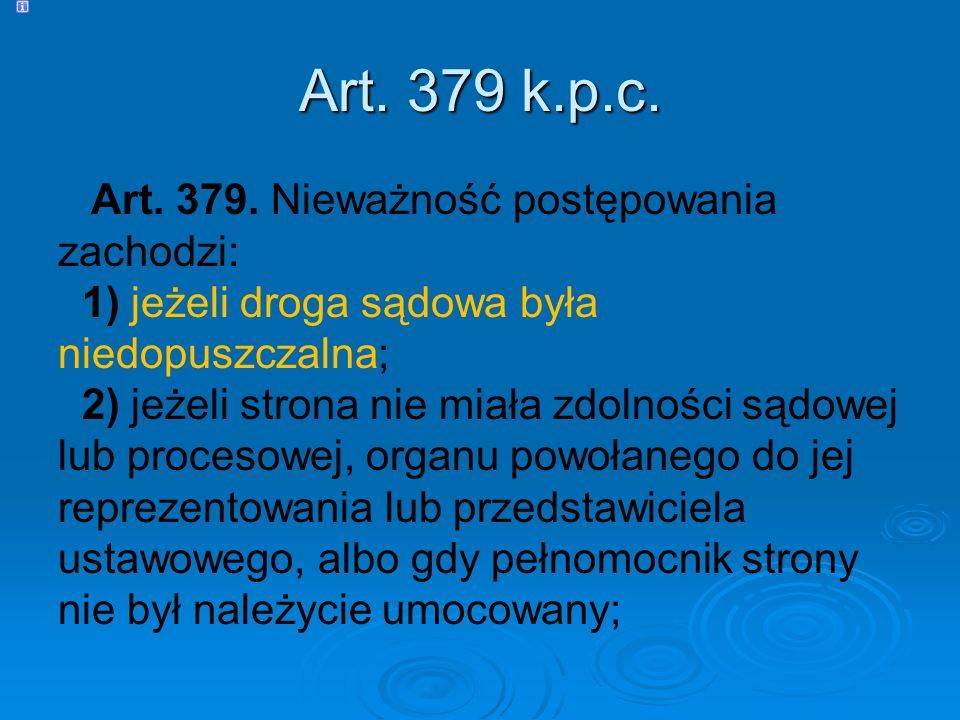 Art.379 k.p.c. Art. 379.