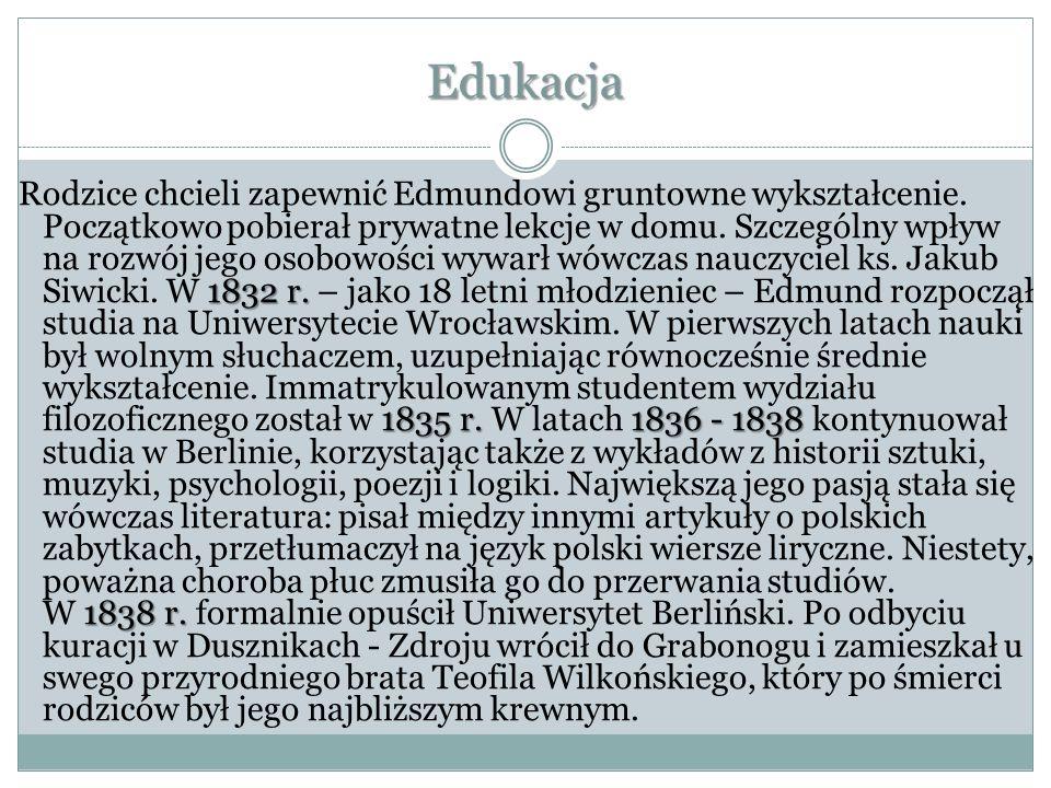 Praca społeczna Wkrótce Edmund Bojanowski aktywnie włączył się w nurt pracy społecznej, której celem było moralne i kulturalne odnowienie narodu polskiego.