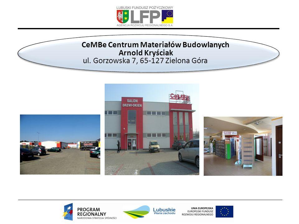 CeMBe Centrum Materiałów Budowlanych Arnold Kryściak ul.