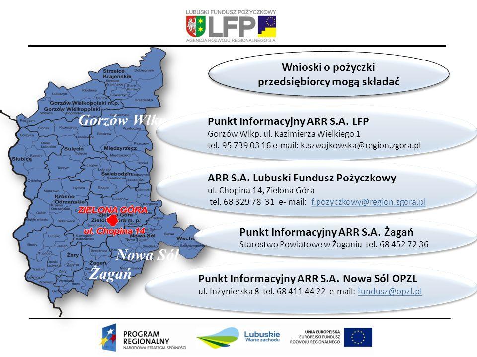Żagań Gorzów Wlkp Nowa Sól Punkt Informacyjny ARR S.A.