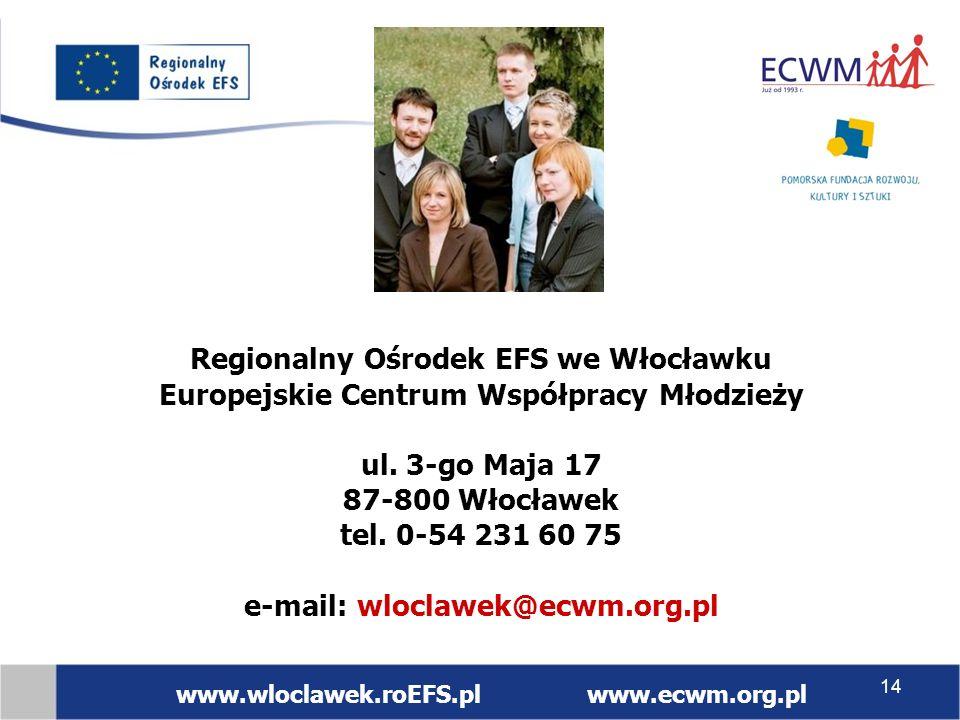 Regionalny Ośrodek EFS we Włocławku Europejskie Centrum Współpracy Młodzieży ul.
