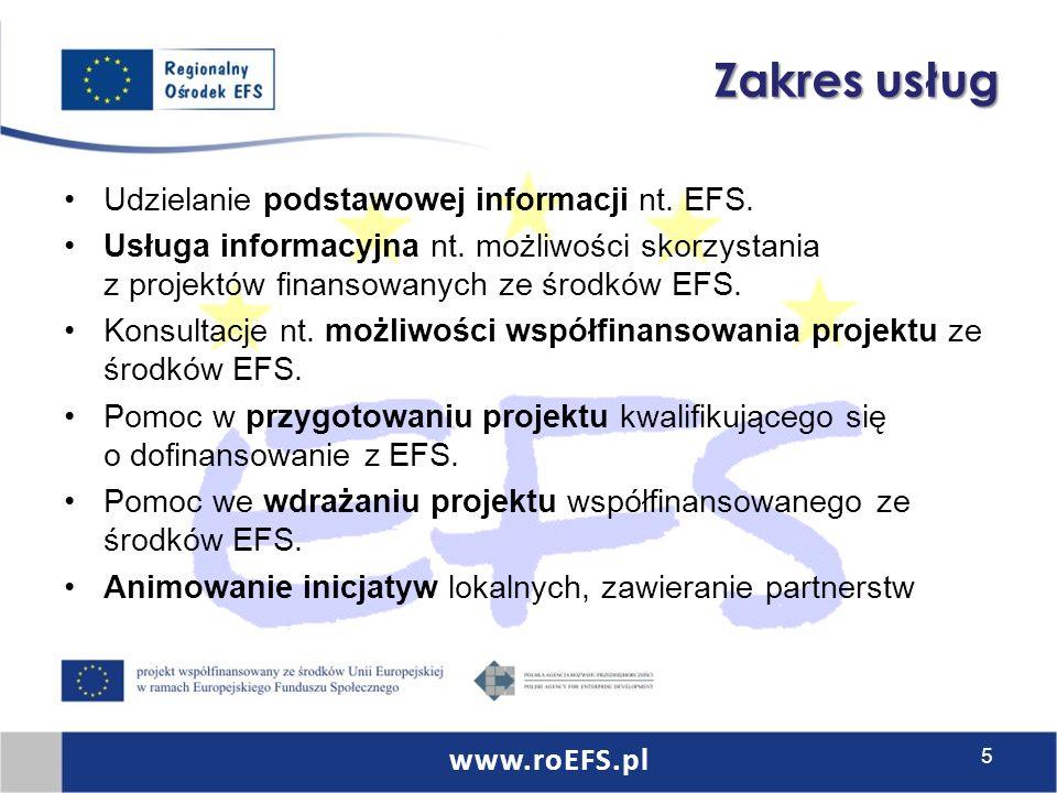 Regionalny Ośrodek EFS w Bydgoszczy Polskie Towarzystwo Ekonomiczne ul.