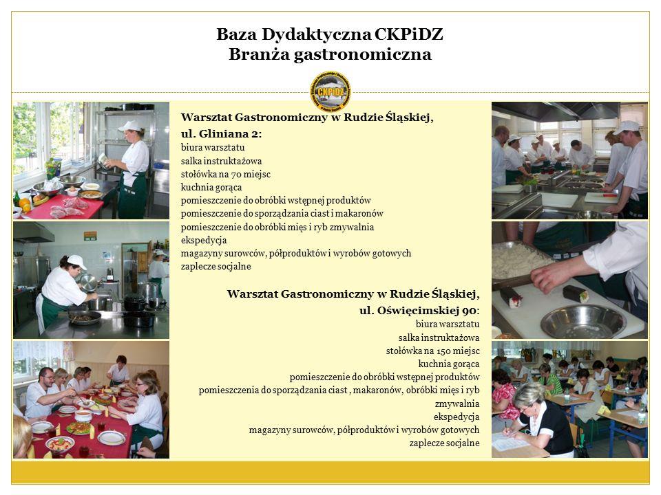 Baza Dydaktyczna CKPiDZ Branża mechaniczno - mechatroniczna Pracownia mechatroniki: stanowiska pneumatyki i elektropneumatyki, stanowiska elementów PLC, stanowiska symulacji procesów przemysł.