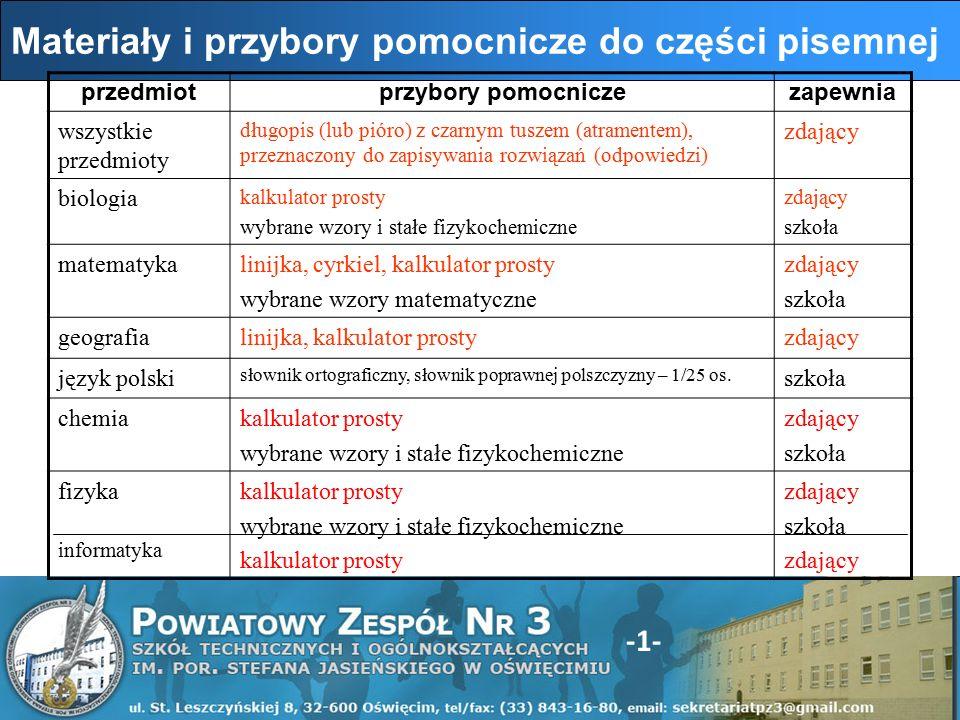 -12- W przypadku braku nr PESEL zdający wpisuje w miejscach przeznaczonych na naklejkę z kodem serię i nr paszportu lub innego dokumentu potwierdzającego tożsamość.