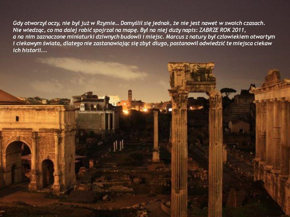 Gdy otworzył oczy, nie był już w Rzymie… Domyślił się jednak, że nie jest nawet w swoich czasach. Nie wiedząc, co ma dalej robić spojrzał na mapę. Był