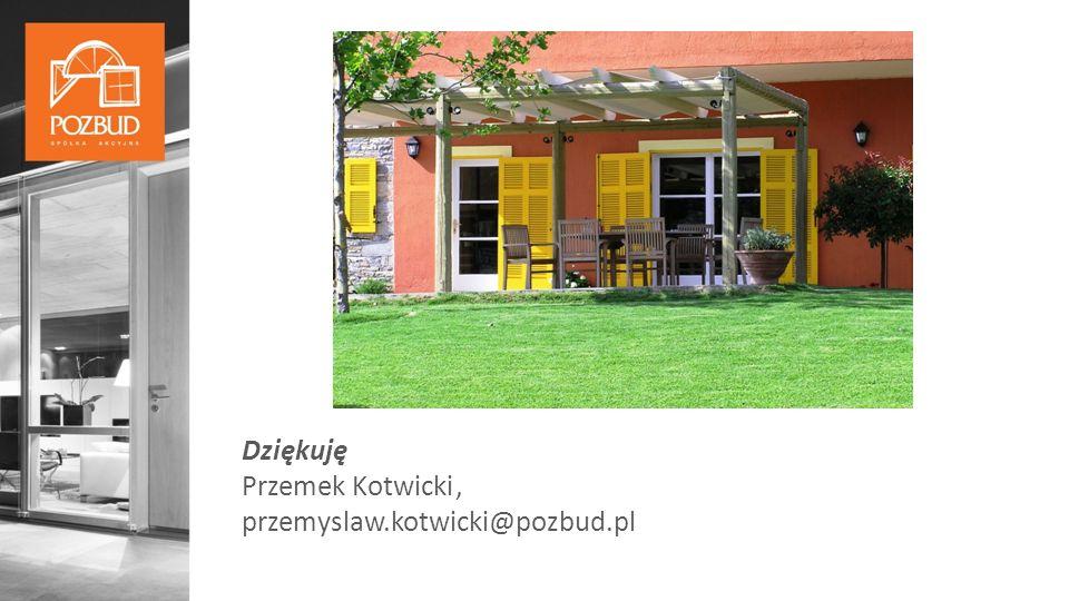 Dziękuję Przemek Kotwicki, przemyslaw.kotwicki@pozbud.pl