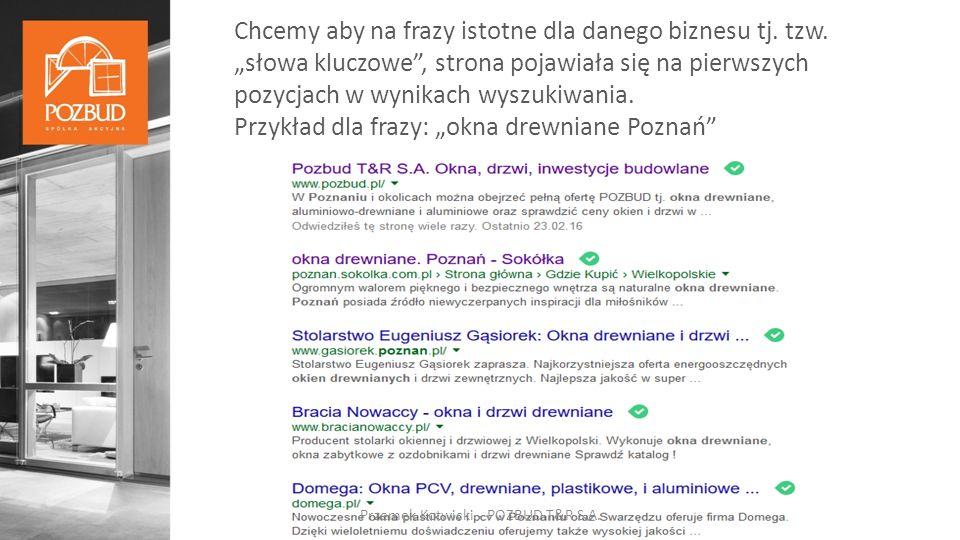 MARKOM Przemek Kotwicki - POZBUD T&R S.A.Odnośniki do youtube, pinterest itd.