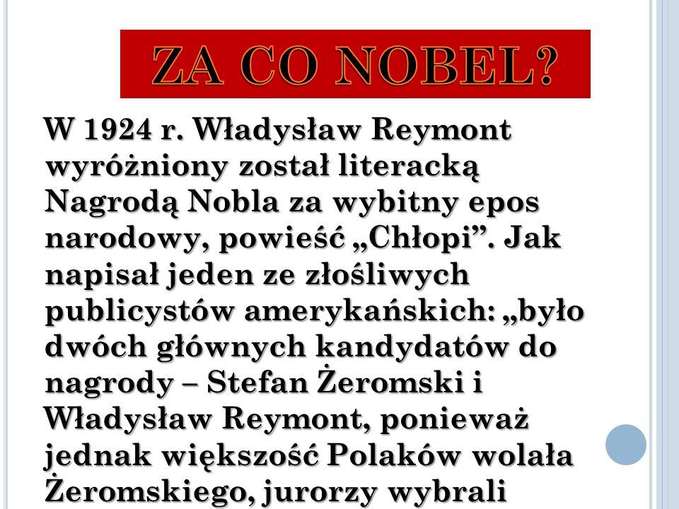 Z A CO NOBEL . W 1924 r.