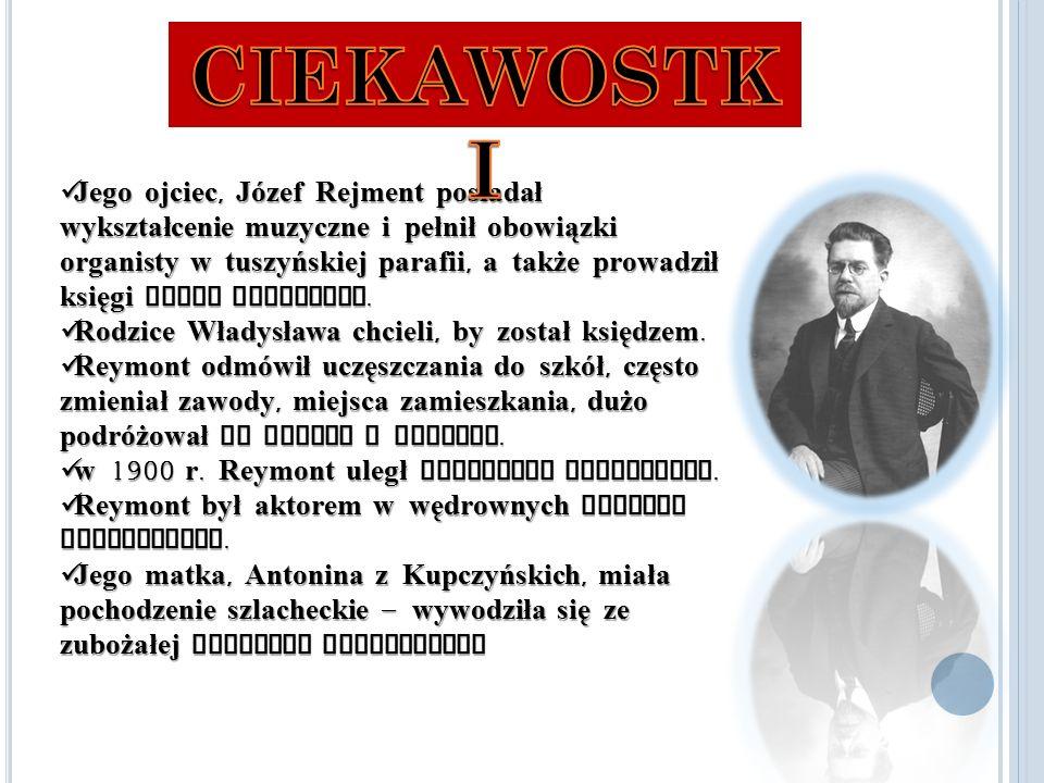 Jego ojciec, Józef Rejment posiadał wykształcenie muzyczne i pełnił obowiązki organisty w tuszyńskiej parafii, a także prowadził księgi stanu cywilnego.