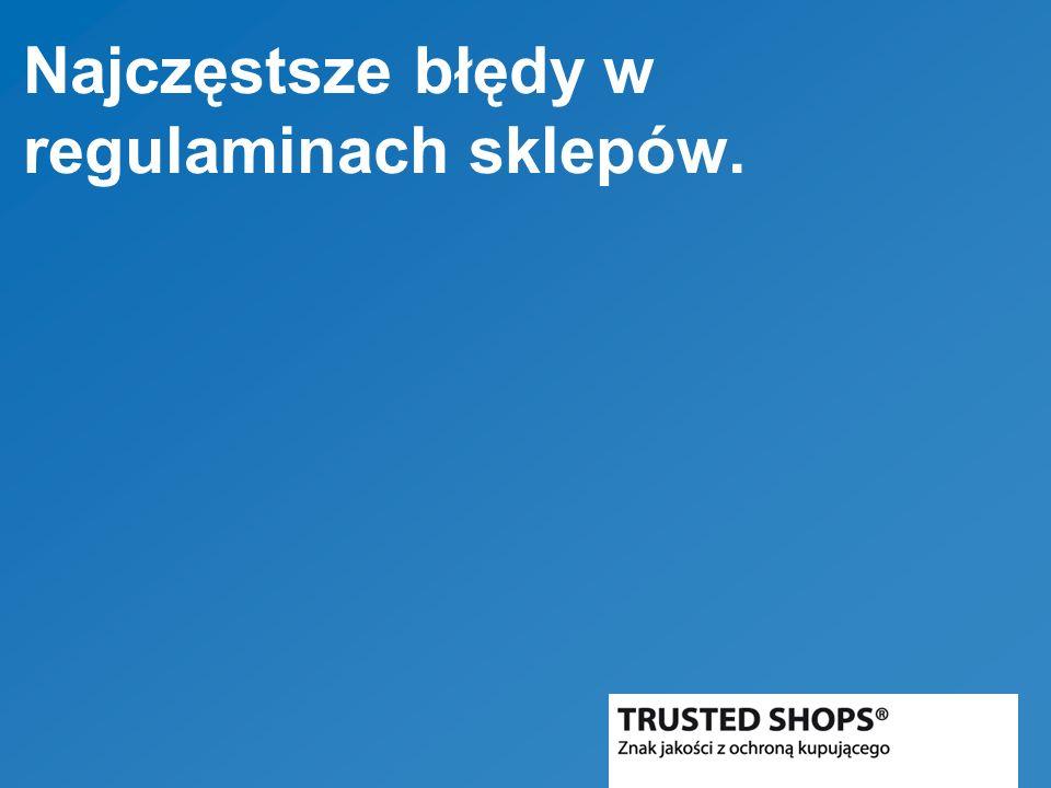 Najczęstsze błędy w regulaminach sklepów.